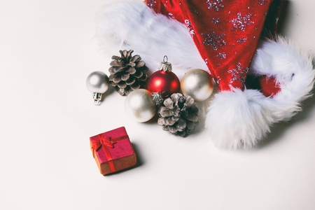 boxing day: photo of the beautiful Christmas decorations and gift Stock Photo