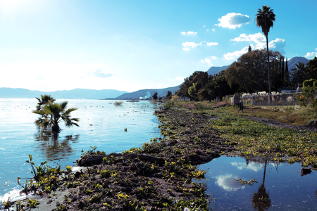 View of Chapala Lake, Mexico Stock Photo