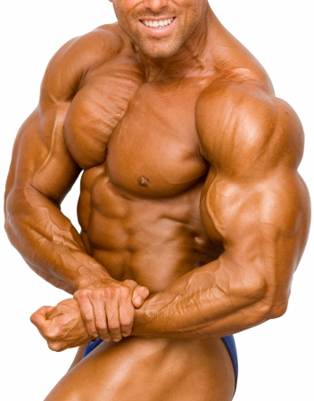 Bodybuilder Isolated on white Stock Photo - 370120