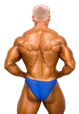 Bodybuilder Isolated on white Stock Photo - 370130