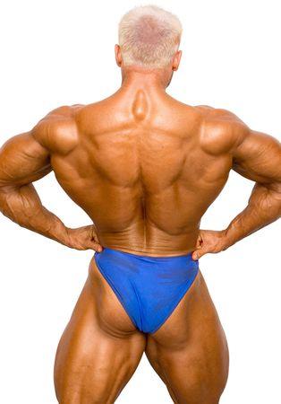 Bodybuilder Isolated on white Stock Photo - 370128