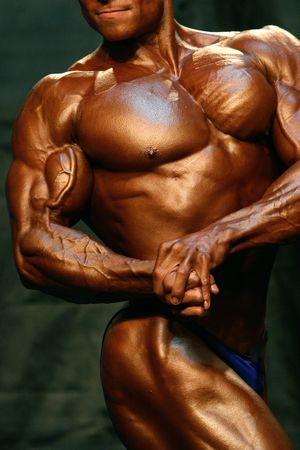 Bodybuilder Side Chest Stock Photo - 409485
