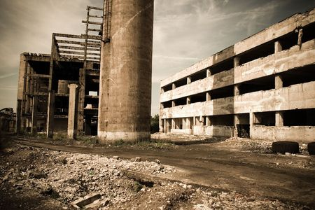 abandoned factory: An old romanian abandoned factory Stock Photo