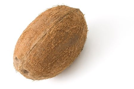 vegetate: A coconut isolated on white background Stock Photo
