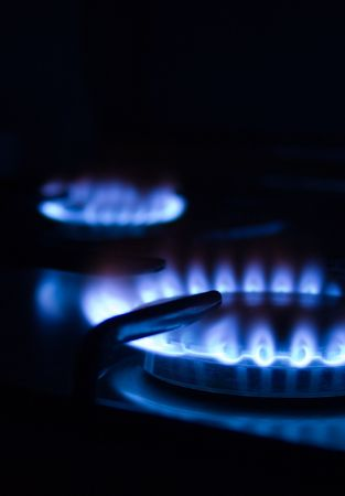consume: Blue gas flames - stove burner