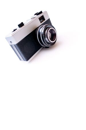 postwar: Vintage camera isolated on white background