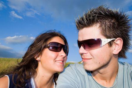Couple Outside, having fun Stock Photo - 413021