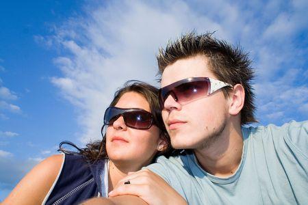 Couple Outside, having fun Stock Photo - 413017
