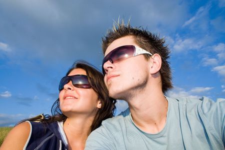 Couple Outside, having fun Stock Photo - 413019