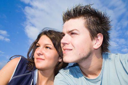 Couple Outside, having fun Stock Photo - 413013