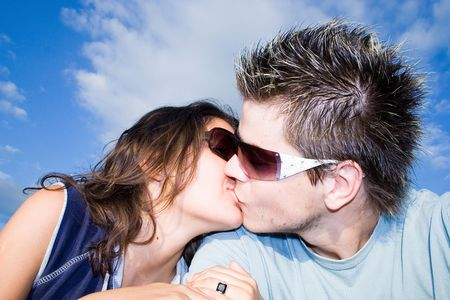 Couple Outside, having fun Stock Photo - 413015