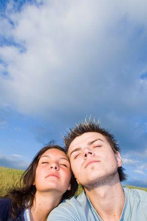 Couple Outside, having fun Stock Photo - 413014