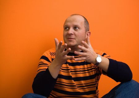 Man explaining something Stock Photo - 416347