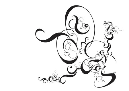 dingbat: Vector Design Scroll Illustration