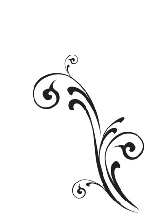 flourish frame: Vector Design Scroll Illustration
