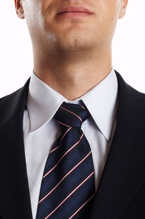 Young Modern Businessman Closeup of tie and tuxedo Stock Photo - 701239