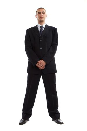 Young Modern Businessman generic portrait shot in studio over white background Stock Photo - 701226