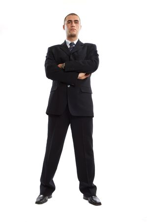 Young Modern Businessman generic portrait shot in studio over white background Stock Photo - 701225