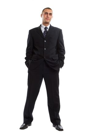 Young Modern Businessman generic portrait shot in studio over white background Stock Photo - 701224