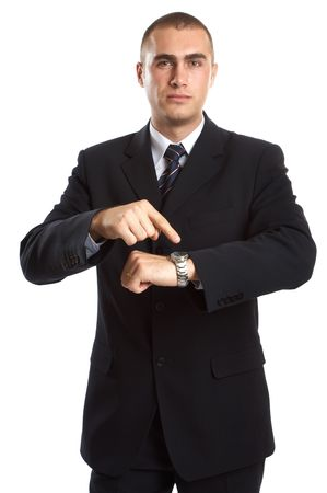 Young Modern Businessman generic portrait shot in studio over white background Stock Photo - 701216