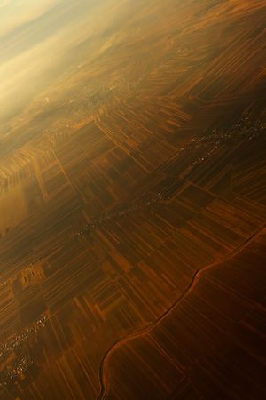Aerial view from airplane above Romania Stock Photo - 774858