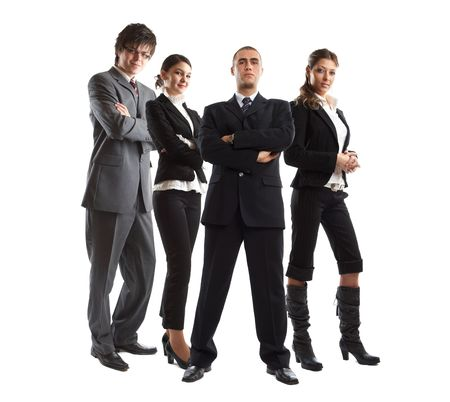 Young attractive business people - the elite business team Stock Photo - 1134062