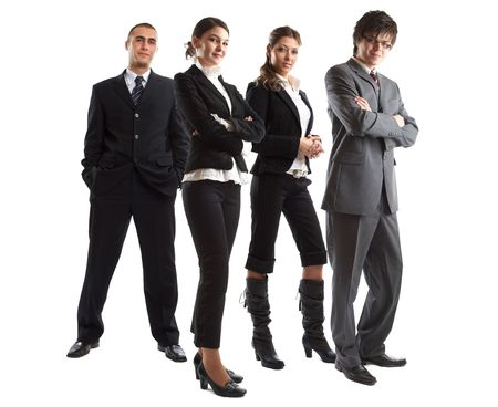 elite: Young attractive business people - the elite business team