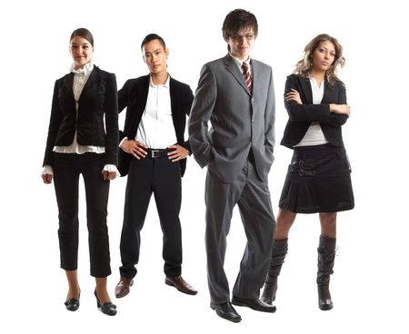 Young attractive business people - the elite business team Stock Photo - 1134065