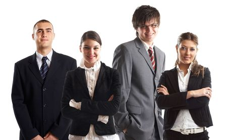 Young attractive business people - the elite business team Stock Photo - 1134068