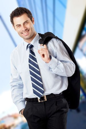 Handsome Businessman shot in studio isolated on white - check my portfolio for similar photos Stock Photo - 1149401