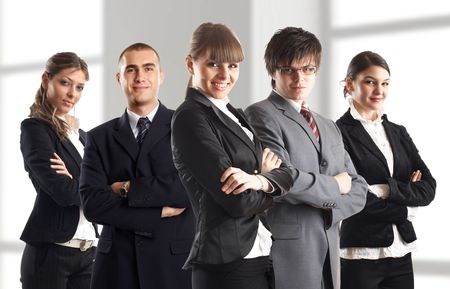 Young attractive business people - the elite dream team Stock Photo - 1149408