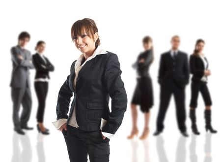 The Businesswoman - elite dream team - people in the background are out of focus Stock Photo - 1172292