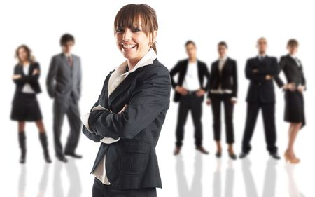 Young attractive business people - the elite business team Stock Photo - 1186359