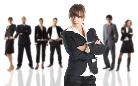 Young attractive business people - the elite business team Stock Photo - 1186333