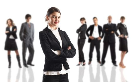 Young attractive business people - the elite business team Stock Photo - 1186334