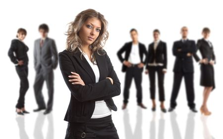 Young attractive business people - the elite business team Stock Photo - 1186398