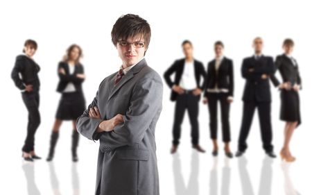 Young attractive business people - the elite business team Stock Photo - 1186335