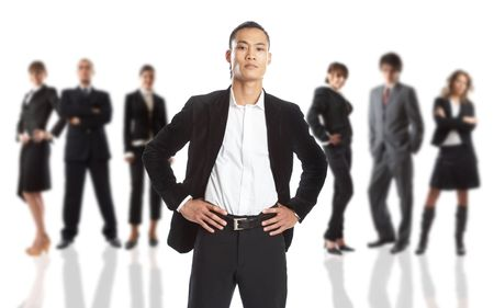 Young attractive business people - the elite business team Stock Photo - 1186336