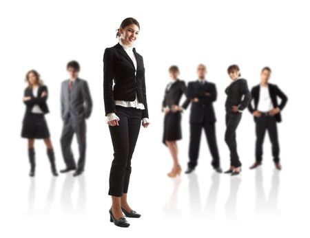 Young attractive business people - the elite business team Stock Photo - 1186341