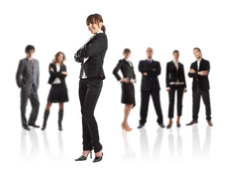 Young attractive business people - the elite business team Stock Photo - 1186342