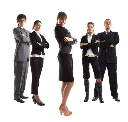 Young attractive business people - the elite business team Stock Photo - 1186343