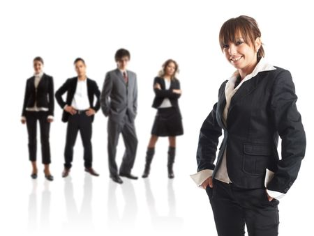 Young attractive business people - the elite business team Stock Photo - 1186345