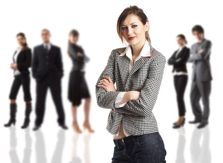 The Businesswoman - elite dream team - people in the background are out of focus Stock Photo - 1173070