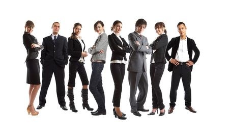 Young attractive business people - the elite business team Stock Photo - 1186349