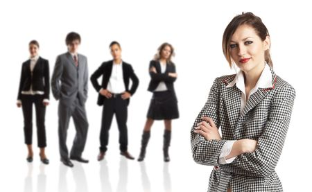 Young attractive business people - the elite business team Stock Photo - 1186351