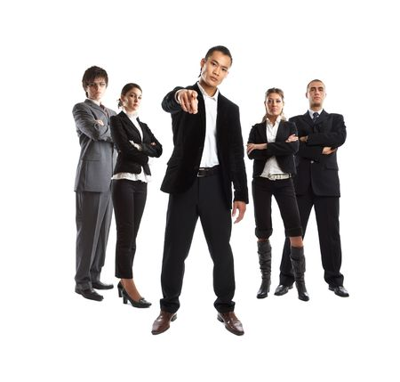 The Boss - Young attractive business people - the elite business team Stock Photo - 1186353