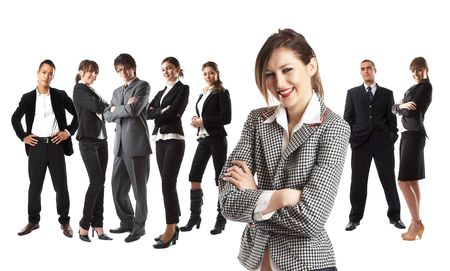 Young attractive business people - the elite business team Stock Photo - 1186354