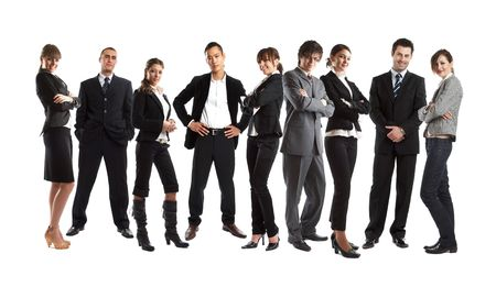 Young attractive business people - the elite business team - check my gallery for more pictures Stock Photo - 1186299
