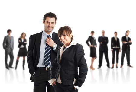 Young attractive business couple - the elite business team - check my gallery for more pictures Stock Photo - 1186301
