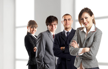 Young attractive business people - businessteam Stock Photo - 1686108
